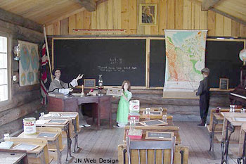 Reconstructed Victorian era school house at 108 Mile Ranch Heritage Site